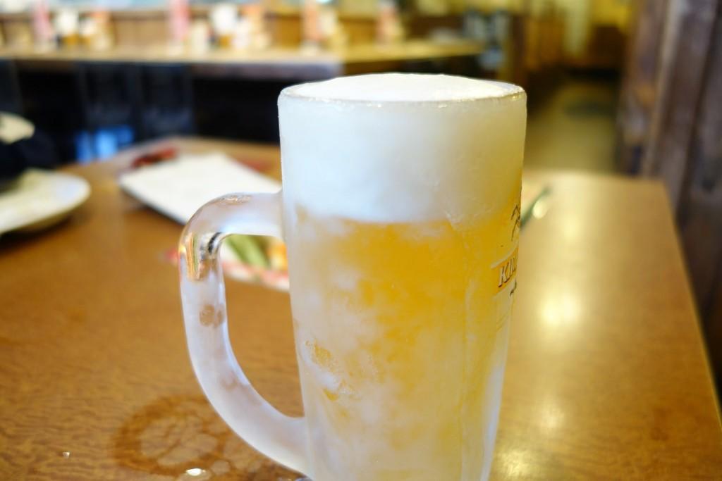 とりどーるのビールはジョッキまでキンキン