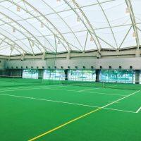 姫路港近くにある謎の建物みなとドームでテニスしてきた